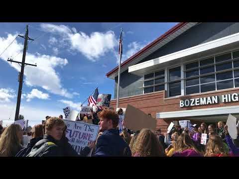 Bozeman High School student walkout
