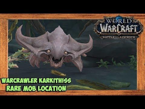 World of Warcraft Warcrawler Karkithiss Rare Mob Location