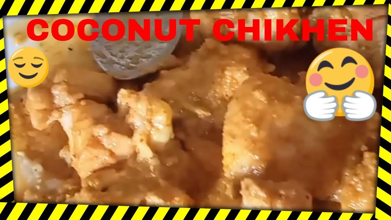 #Coconut# Chikhen recipe at home 😋😋#babitacooking