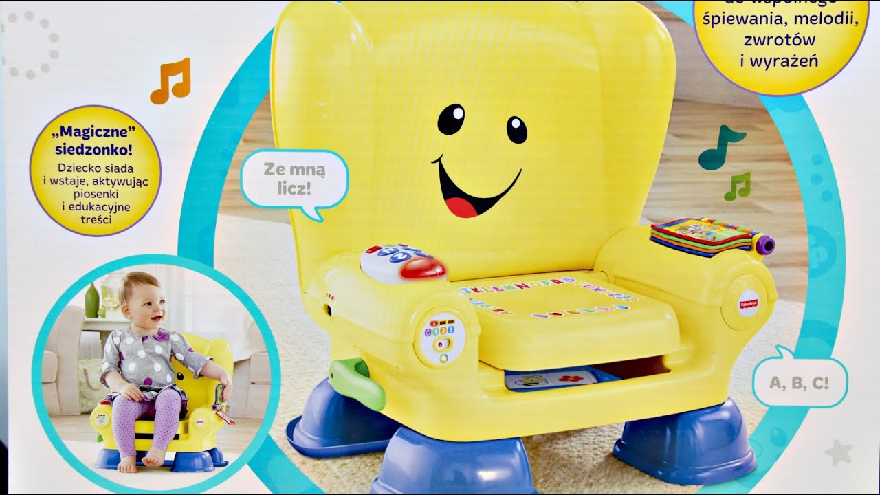 Fisher price smart stages chair - Smart Stages Chair Yellow Edulacyjny Fotelik Malucha Ty Laugh Learn Fisher Price Cdf63 Youtube
