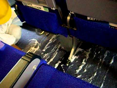 Aircraft Interior Cleaning Under Passenger Seat Deep Cleaning Youtube