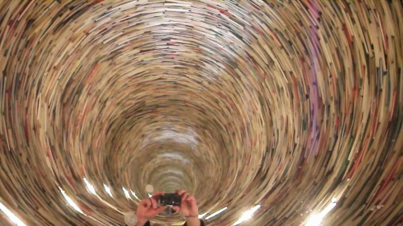 The Infinite Book Tunnel Prague Library Youtube