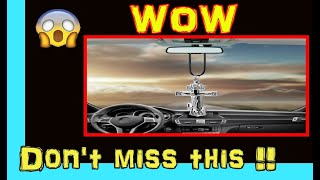 Jesus Cross Rear View Mirror Hanging Accessory  | Cool Car Gadgets