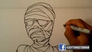 How to Draw a Mummy - Easy Things to Draw