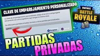 JUGANDO PARTIDAS PRIVADAS CON CODIGO!!! FORTNITE: BATTLE ROYALE road to 2.5k