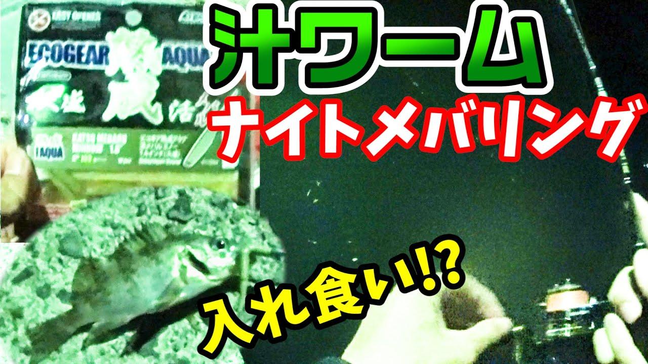 【メバリング】汁ワームでナイトメバリングしてみたら入れ食い状態に!?