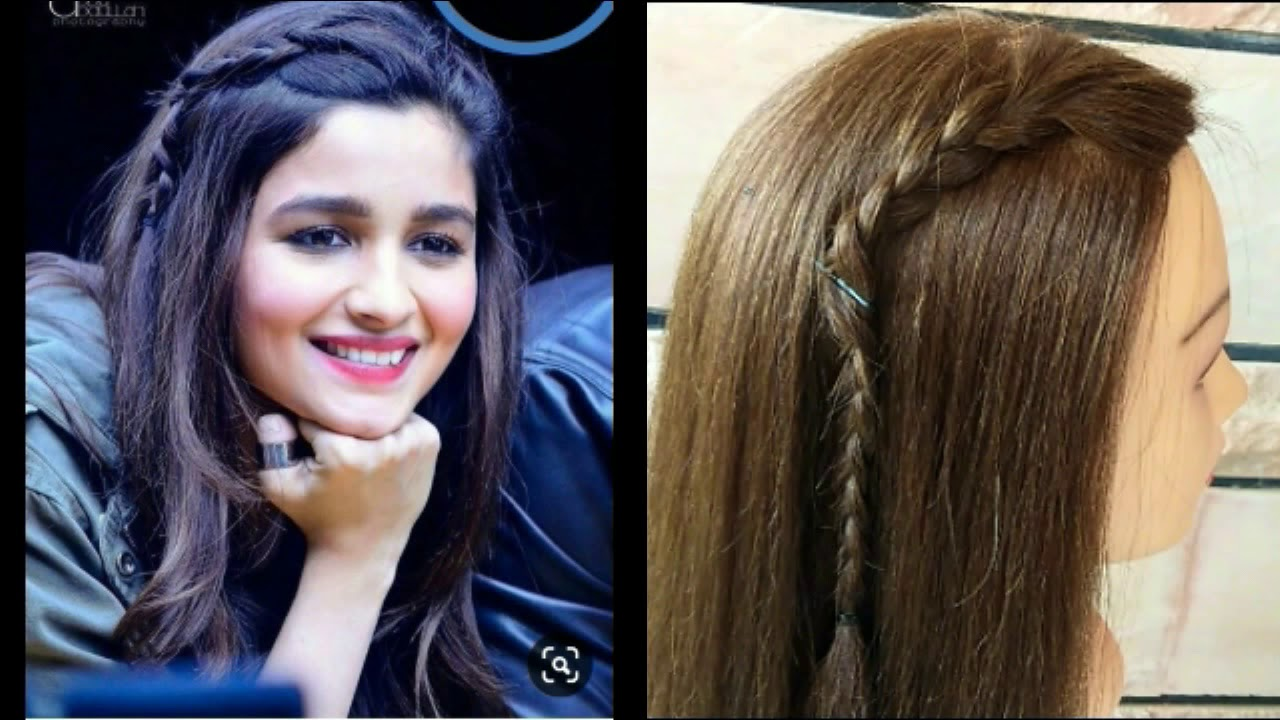 2 Cute And Best Hairstyles For Girls Easy Hairstyles Inspired By Alia College Girls Hairstyle Youtube