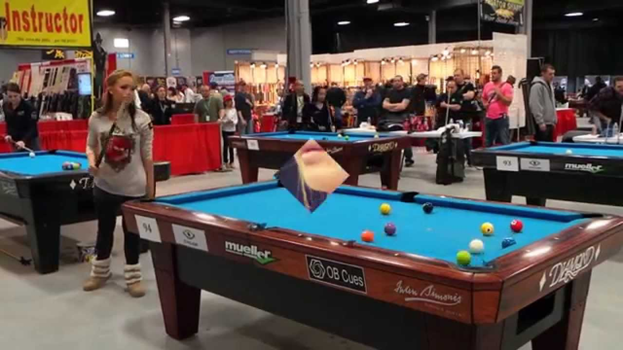 Super billiards expo 2014 lynch the final edit youtube for Pool expo show