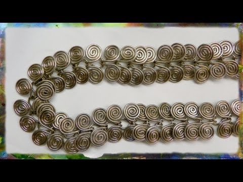 How to Make A Silver Wire Jewelry Necklace, Egyptian Link Part 1