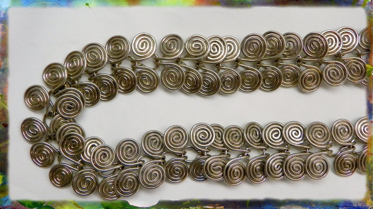 How to make a silver wire jewelry necklace egyptian link part 1 how to make a silver wire jewelry necklace egyptian link part 1 youtube aloadofball Choice Image