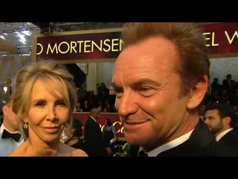 Sting interview on the red carpet at the Oscars