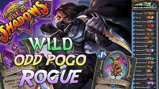 Wild Odd Pogo Rogue Deck   Rise of Shadows   Hearthstone