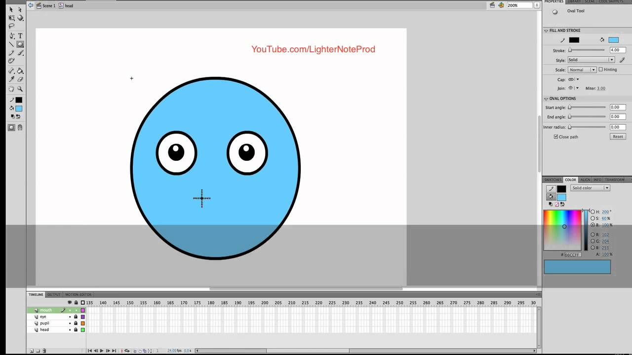 Flash animation tutorial how to create eyes eye blink for cartoon character youtube