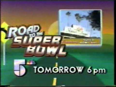 1987 ad for SUPER BOWL XXI in Pasadena -- Chicago TV