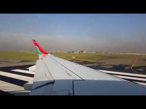 Kenya Airways E-190 Take-Off Jomo Kenyatta International Airport