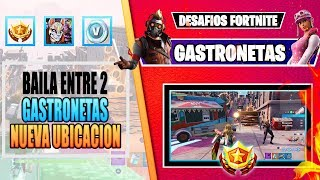 Dance or use a Gesture between 2 GASTRONETAS ChallengeS Delivery at the Fortnite Center FOR FREE ONE ITEM!