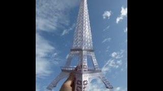 papercraft - The Eiffel Tower, Paris - dutchpapergirl