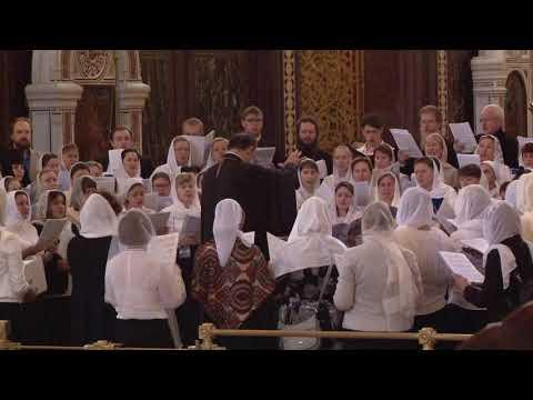26 октября 2019 года Литургия в Храме Христа Спасителя с участием сводного хора делегатов Съезда.