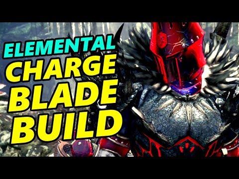 Elemental Charge Blade Build (for Savage Axe Slash) - Monster Hunter World