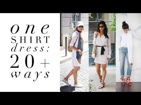 One Shirt Dress: 20 Ways   How To Style Basics   Capsule Closet