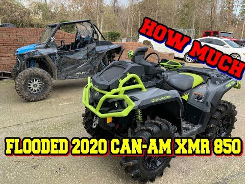 How Much is a Flooded 2020 Can-Am XMR 850 from Copart Insurance Auction