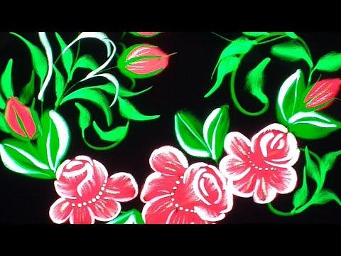 Decorative Digital Painting 132- Digital Folk Art Flower Painting on Procreate