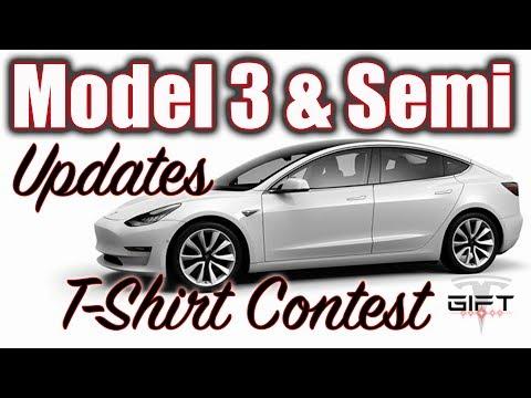 Model 3 Build walk through, Tesla Semi Pricing & T-Shirt Contest