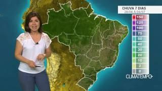 Confira a previsão de chuva para 7 dias no Brasil