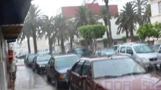 تساقط أمطار الخير بغزارة بمدينة الناظور إختبار للبنية التحتية