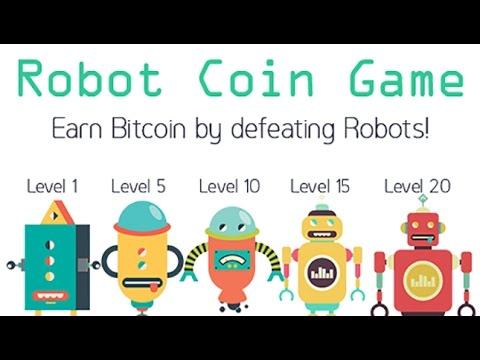 Robot Coin Game - уничтожай роботов за биткоины.