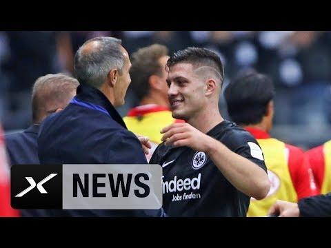 Luka Jovic schießt 5 Tore! Das sagt Adi Hütter: Eintracht Frankfurt - Fortuna Düsseldorf 7:1 | SPOX