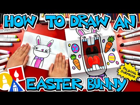 How To Draw A Big Mouth Easter Bunny – Folding Surprise