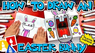 How To Draw A Big Mouth Easter Bunny - Folding Surprise