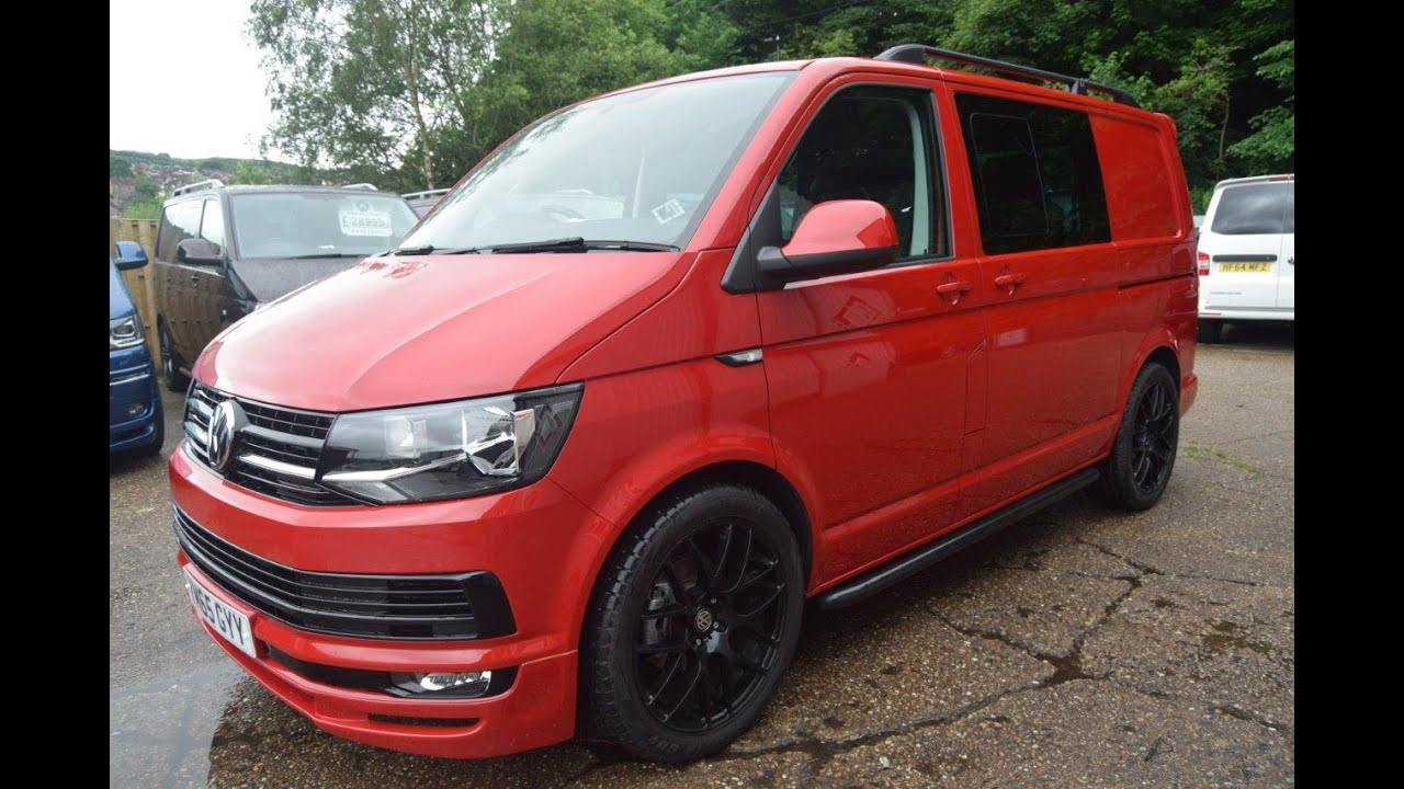 vw transporter 2015 cherry red kombi 140 lv sportline pack. Black Bedroom Furniture Sets. Home Design Ideas
