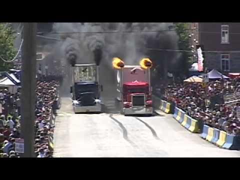 แขงรถบรรทุ 18 ล้อ ดูวาจะอะไรขึ้น 71 Sébastien Gagnon COGA vs 13 Vincent Couture   YouTube