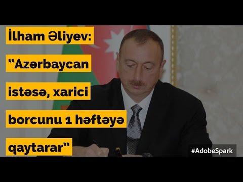 Azərbaycan xirtdəyə qədər borca girib? - Gündəlik xəbərlər (21.03.2017)