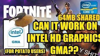 Fortnite Intel HD Graphics 4 GB RAM | Works!?