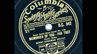 Benny Goodman Sextet - Memories of you