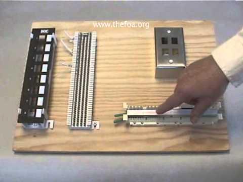 110 Block Wiring Diagram 25 Pair Quot Cat 5 Quot Cabling Part 2 Training Board Youtube