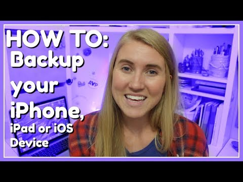 HOW TO: Backup Your IPhone, IPad, & IOS Device!