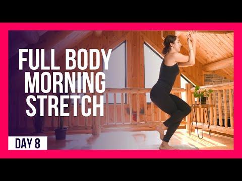 10 Min FULL BODY Stretch Wake Up Yoga – Day #8 (FULL BODY MORNING YOGA)