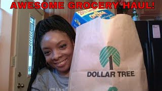 Large grocery haul from Dollar Tree!!!!!!!