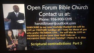 Scriptural contradictions Part 5