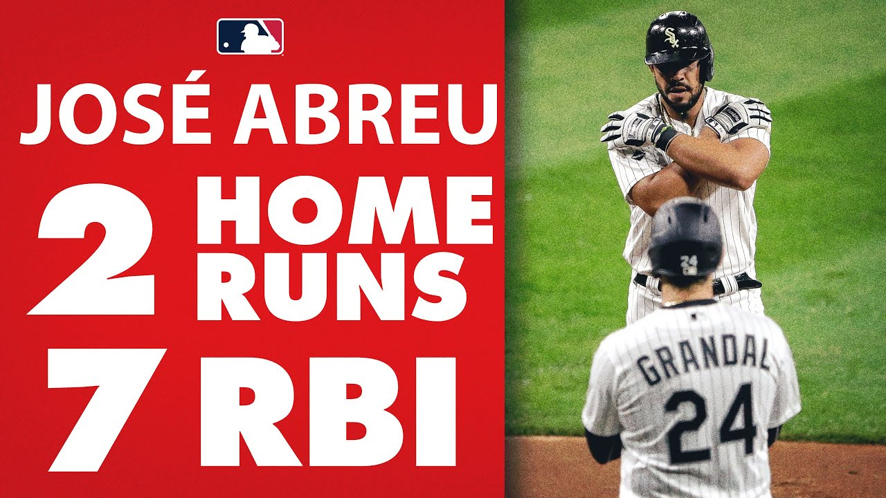 José Abreu has a huge 7 RBI game! The White Sox 1st baseman went 4-4 with 2 homers!