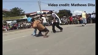 A talented street kid and others dancing at Hawassa aka Awassa Ethiopia