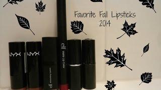 Favorite Fall Lipsticks 2014 || Fierce Fall Series Thumbnail