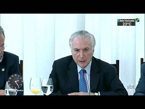 Barroso solicita quebra do sigilo bancário de Temer em investigação | SBT Notícias (06/03/18)