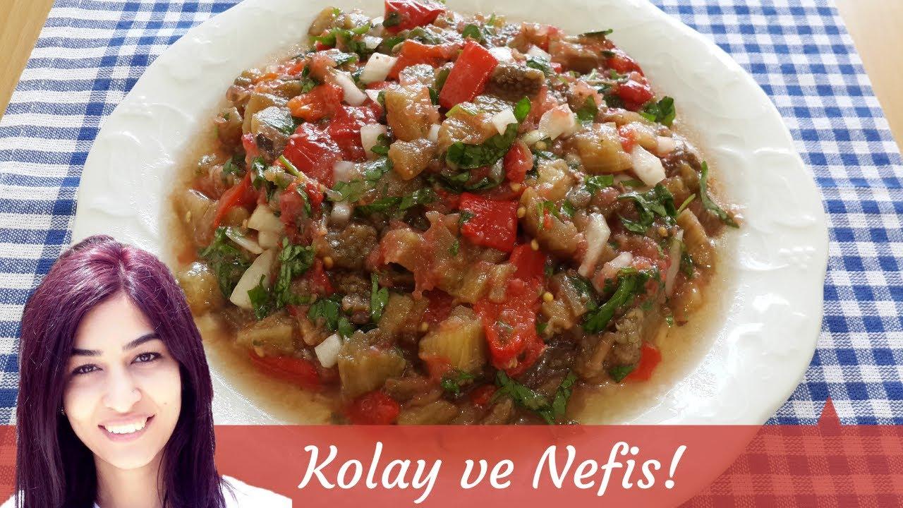 KAŞIK KAŞIK YEDİRTEN 👌 TADINA DOYAMAYACAĞINIZ 😋 Sirkesiz Patlıcan Salatası Tarifi