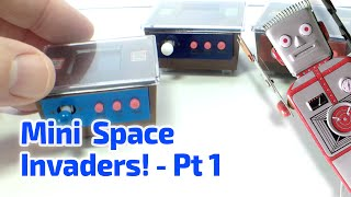 2005 Working Mini Space Invaders Cocktail Cabinet Arcade Machines By Epoch Of Japan
