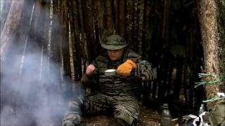 Esbit German Camping Stove - Chicken Soup Break While Building A Shelter
